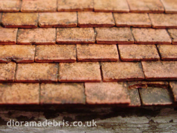1 35 Flat Clay Roof Tile Mold By Diorama Debris For