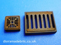 1:24 Scale drain grates and frames